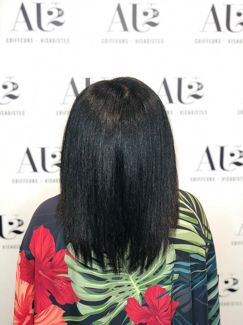 tanin straightening before and then