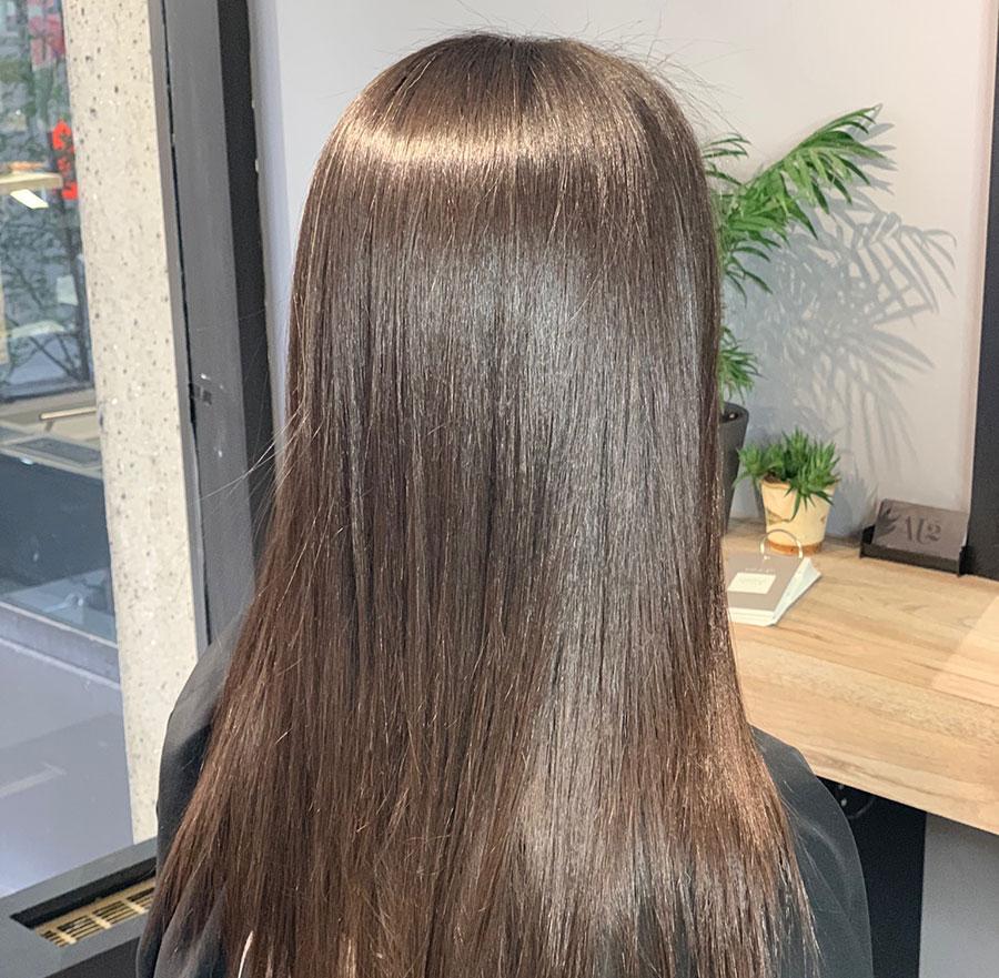 entretenir des cheveux lissés